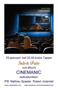 cinemanic esitluskontsert tapperis